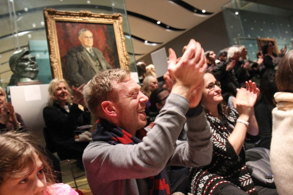 Performing Bibi-La-Puree Suite at National Portrait Gallery - photo by NPG