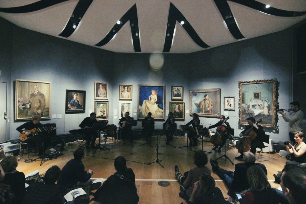 Performing Bibi-La-Puree Suite at National Portrait Gallery