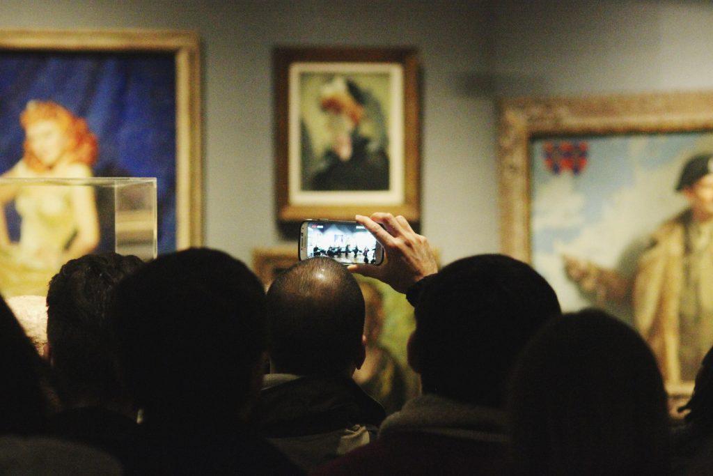 Performing Bibi-La-Puree Suite at National Portrait Gallery